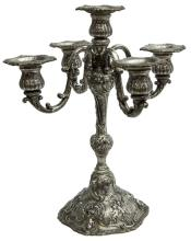 MARSHALL FIELD REPOUSSE STERLING CANDELABRA
