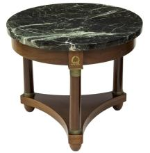 FRENCH EMPIRE STYLE MARBLE TOP SOFA TABLE