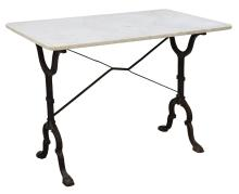 FRENCH MARBLE & IRON PARISIAN BISTRO TABLE