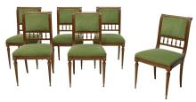 (6) ITALIAN EMPIRE STYLE SIDE CHAIRS