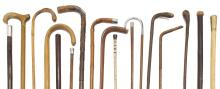 (17) MEASURING WALKING STICK STERLING TIPPED, MISC