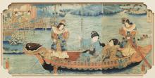 FRAMED KUNIYOSHI JAPANESE WOODBLOCK PRINT