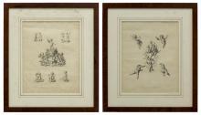 (2) EUGEN KLIMSCH (1839-1896) ETCHINGS OF CHERUBS