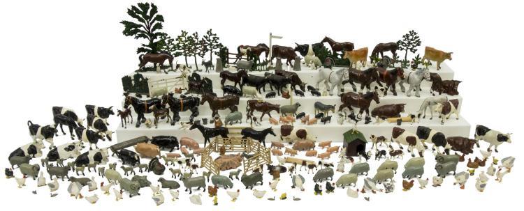 LARGE COLLECTION BRITAIN'S LTD. LEAD FARM ANIMALS
