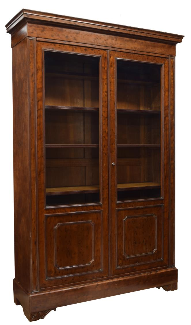 FRENCH DOUBLE DOOR BOOKCASE, 86