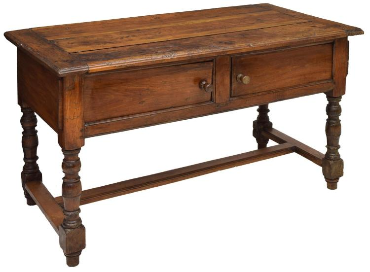 FRENCH WALNUT WRITING DESK, 18TH C./19THC