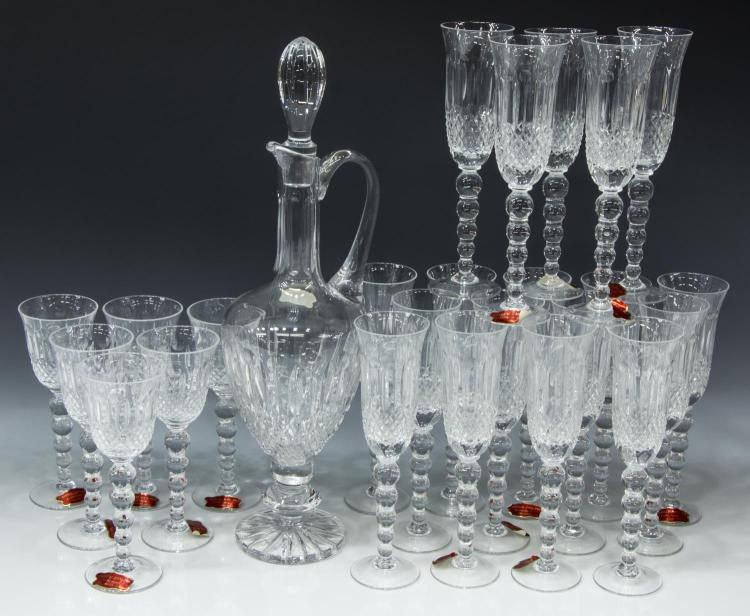 (25) FRENCH CRYSTAL DECANTER & STEMWARE SERVICE