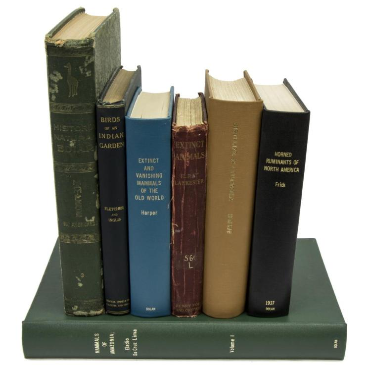 (7) BOOKS, MAMMALS OF AMAZONIA, EXTINCT MAMMALS