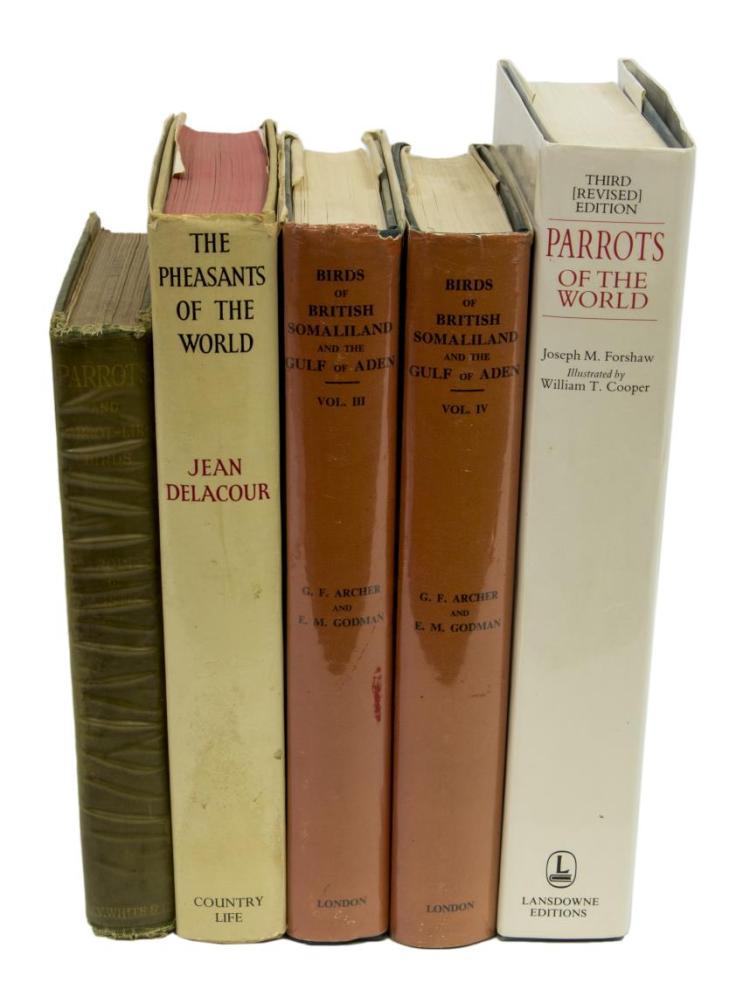 (5)BOOKS: PARROTS OF THE WORLD, PHEASANTS, SOMALIA
