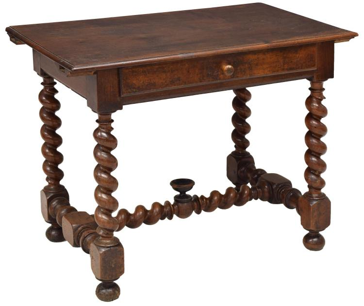 FRENCH LOUIS XIII STYLE WALNUT DESK OR TABLE