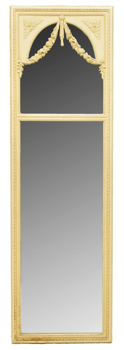 FRENCH LOUIS XVI STYLE PAINTED WALL MIRROR