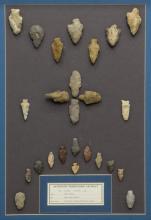 (25) FRAMED ARROWHEADS, DART POINTS