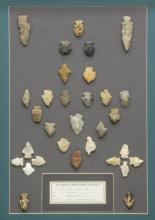 (30) FRAMED ARROWHEADS, DART POINTS