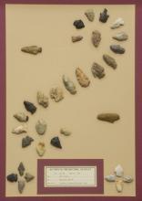 (32) FRAMED ARROWHEADS, DART POINTS