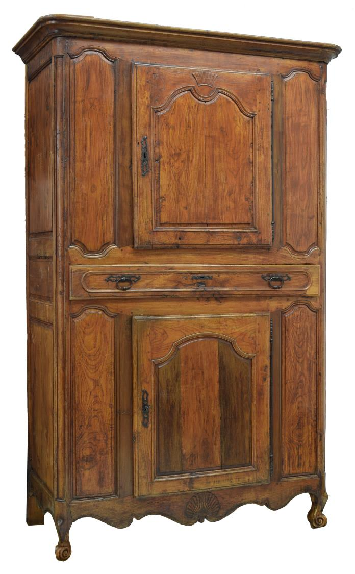 LOUIS XV STYLE CARVED FRUITWOOD BONNETIERE