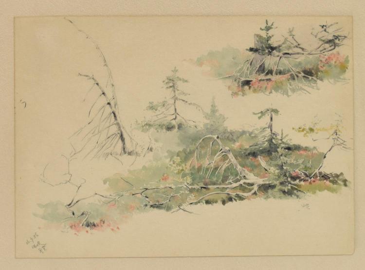 RICHARD FRIESE (1854-1918) WATERCOLOR SKETCH