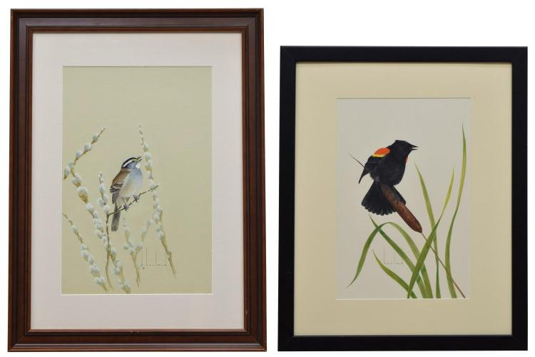 (2) D. HOWLAND (NY,1920-1999) WATERCOLOR PAINTINGS