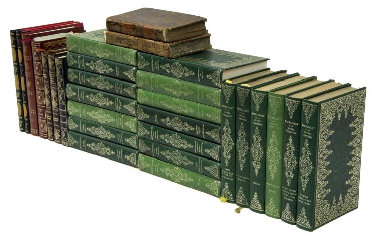 (29) FRENCH GILT EMBOSSED HARDCOVER LIBRARY BOOKS