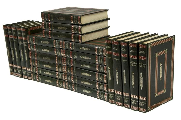 (25) FRENCH GILT EMBOSSED HARDCOVER LIBRARY BOOKS
