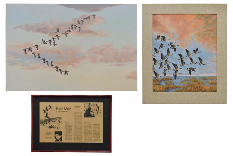 (3) D. HOWLAND (NY, 1920-1999) ACRYLIC ON BOARD