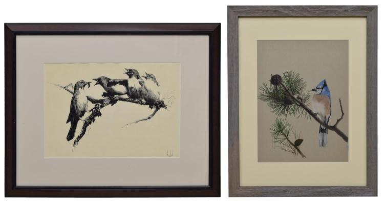 (2) DOUGLAS HOWLAND (1920-1999) FRAMED ARTWORKS