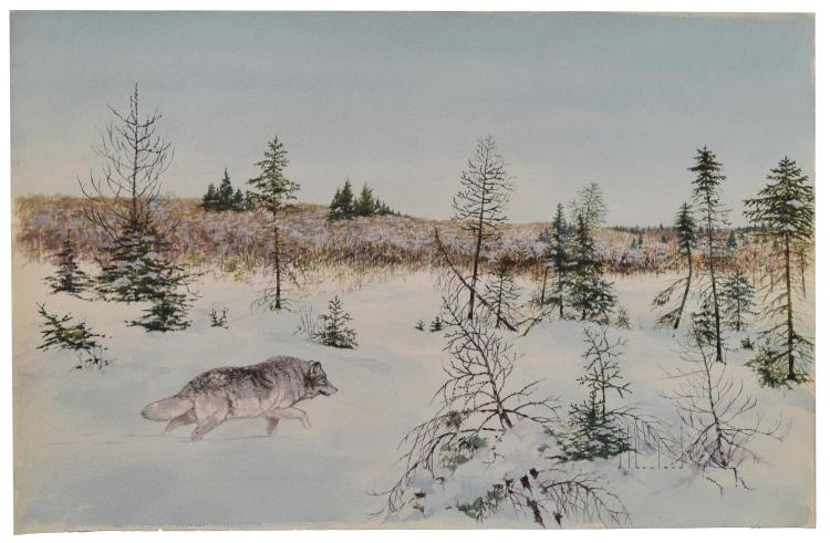 D. HOWLAND (NY, 1920-1999) WATERCOLOR PAINTING