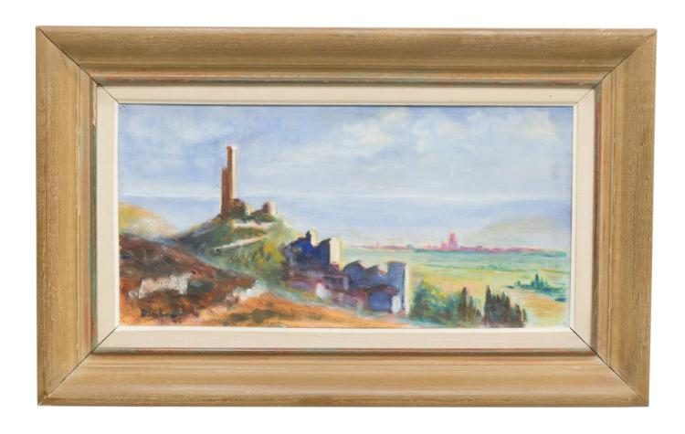 FRAMED FRENCH SCHOOL OIL ON CANVAS PAINTING