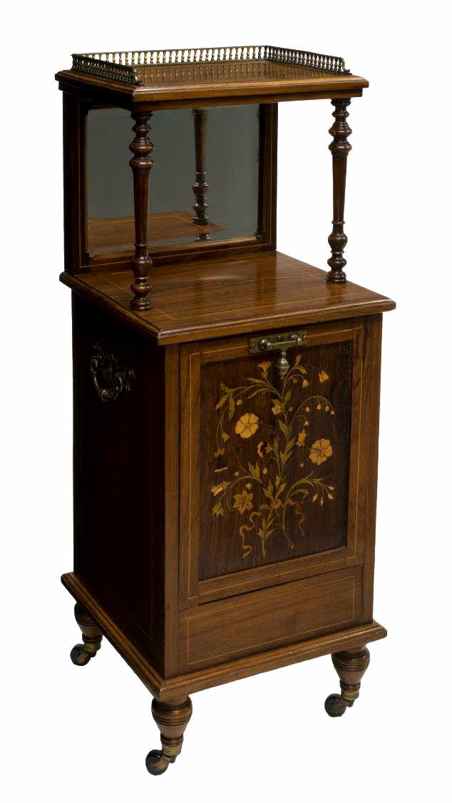 FRENCH MARQUETRY ROSEWOOD SIDE TABLE