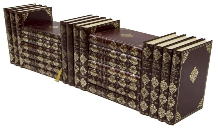 (24) FRENCH GILT EMBOSSED HARDCOVER LIBRARY BOOKS