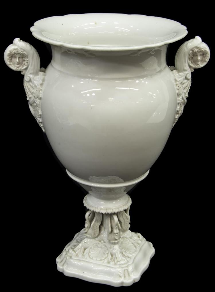 LARGE FRENCH NEOCLASSICAL STYLE PORCELAIN VASE