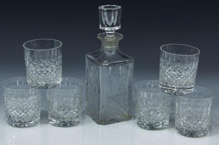 (6) FRENCH CRYSTAL DECANTER & TUMBLERS IN BOX