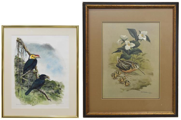(2) FRAMED SIGNED ARTWORK, DON R. ECKELBERRY