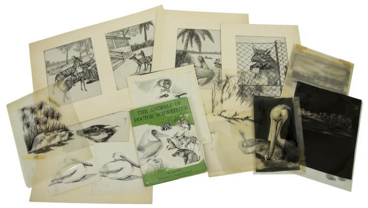 (LOT) 'ANIMALS OF DOC. SCHWEITZER' HOWLAND ARCHIVE