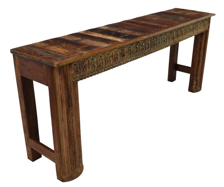 british colonial style teakwood console table. Black Bedroom Furniture Sets. Home Design Ideas