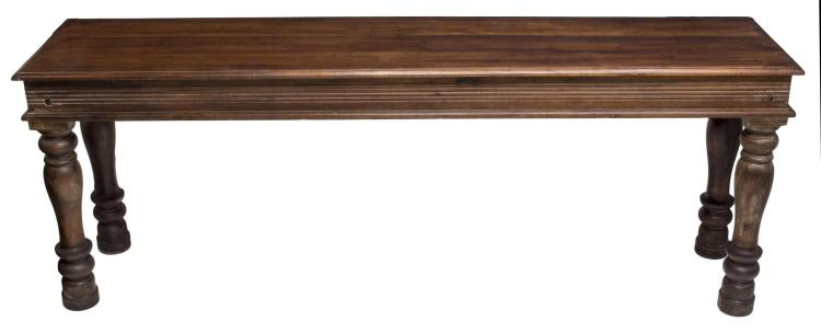 British colonial style carved teak console table - Console style colonial ...