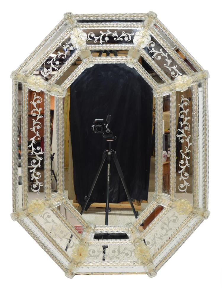 VENETIAN STYLE STEPPED MIRROR