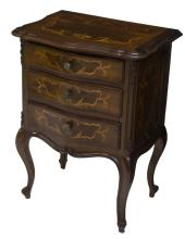 DIMINUTIVE ITALIAN INLAID WOOD SIDE CABINET