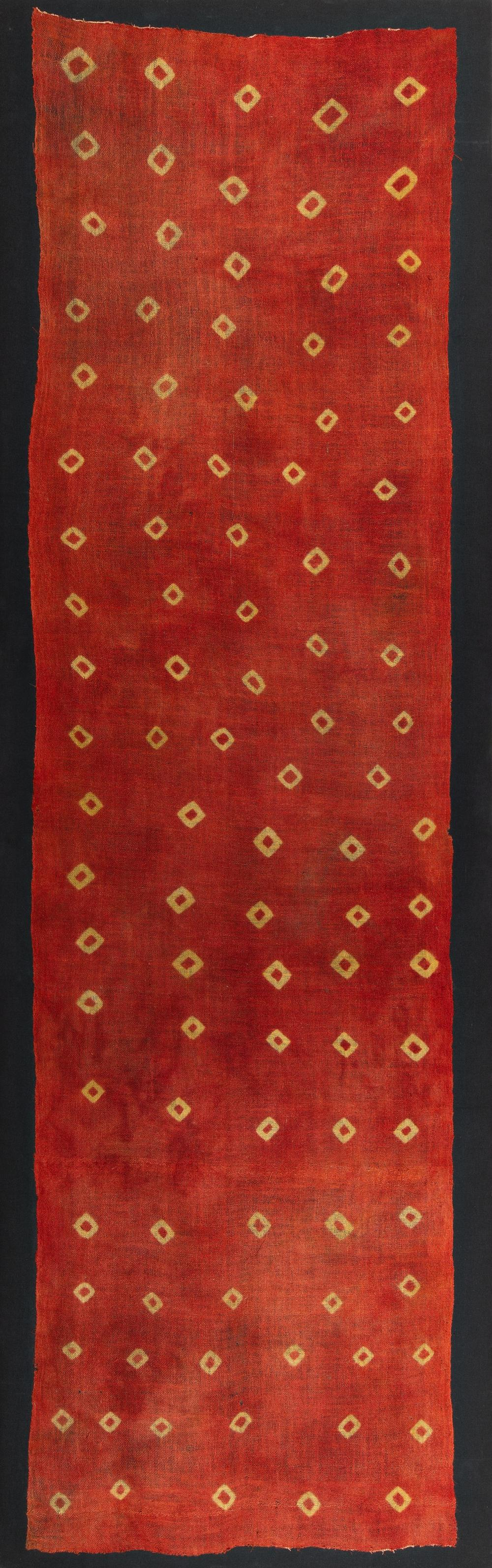 Cloth patterned in reserve technique (Plangi)