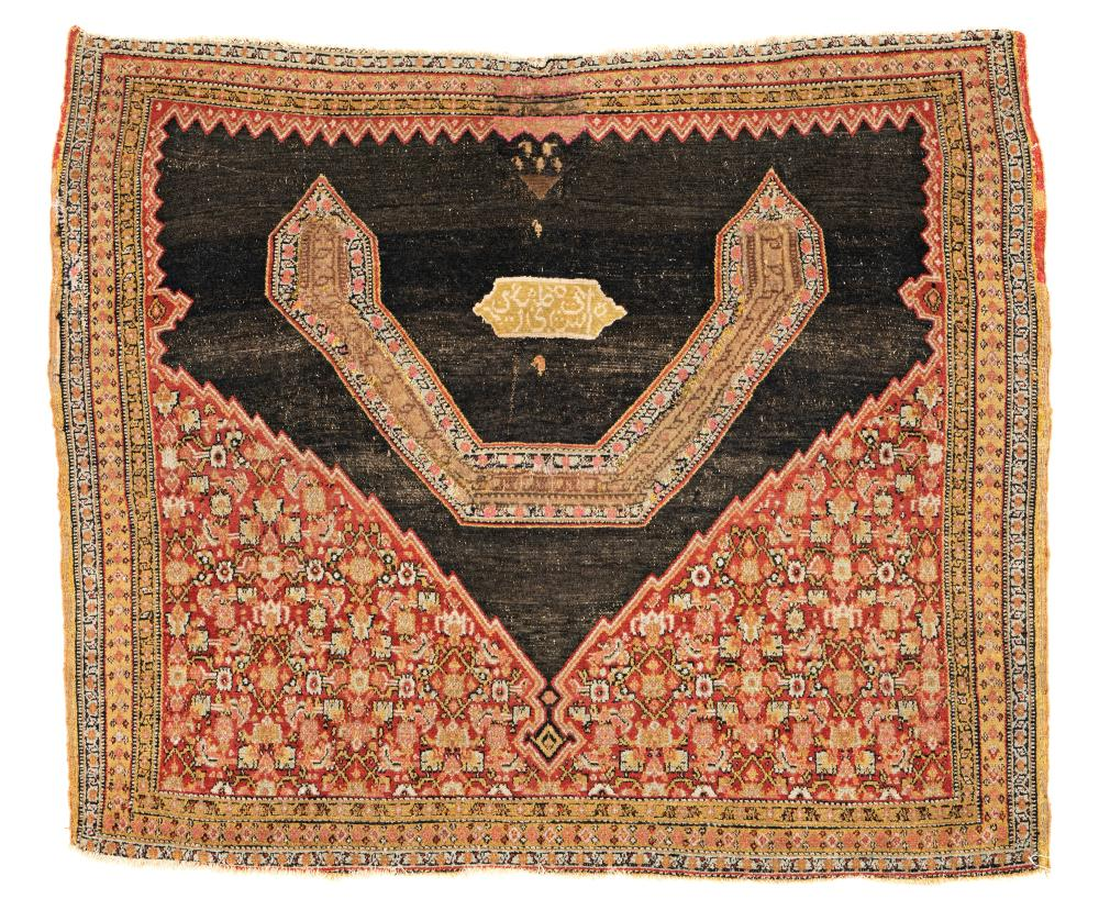 Senneh Saddlecloth with Silk Inscriptions