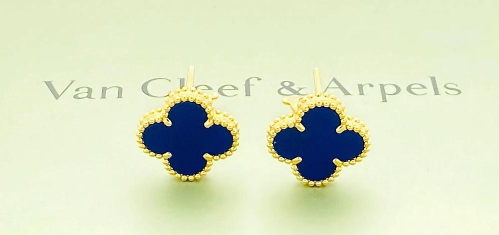 VAN CLEEF & ARPELS 18K LAPIS LAZULI EARRINGS