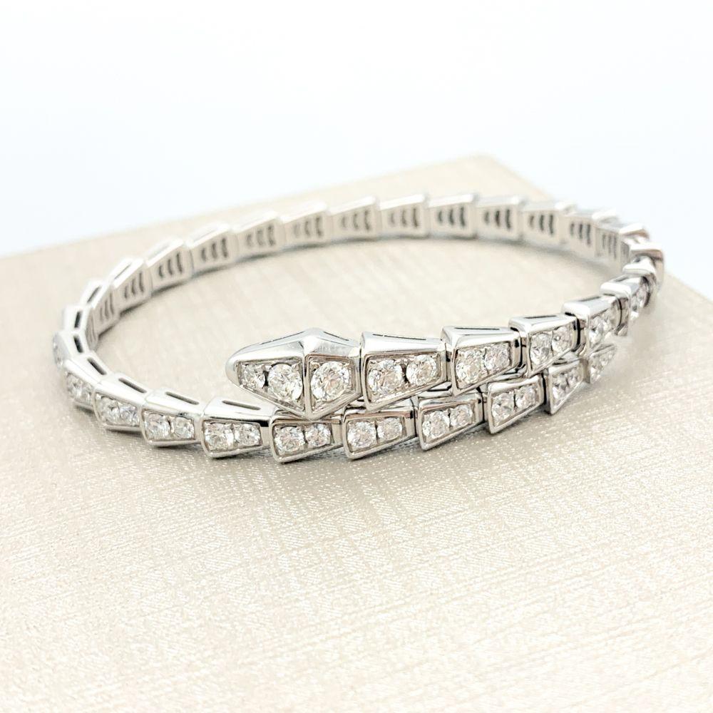 Bvlgari Serpenti Viper 18K White Gold Pave Diamond