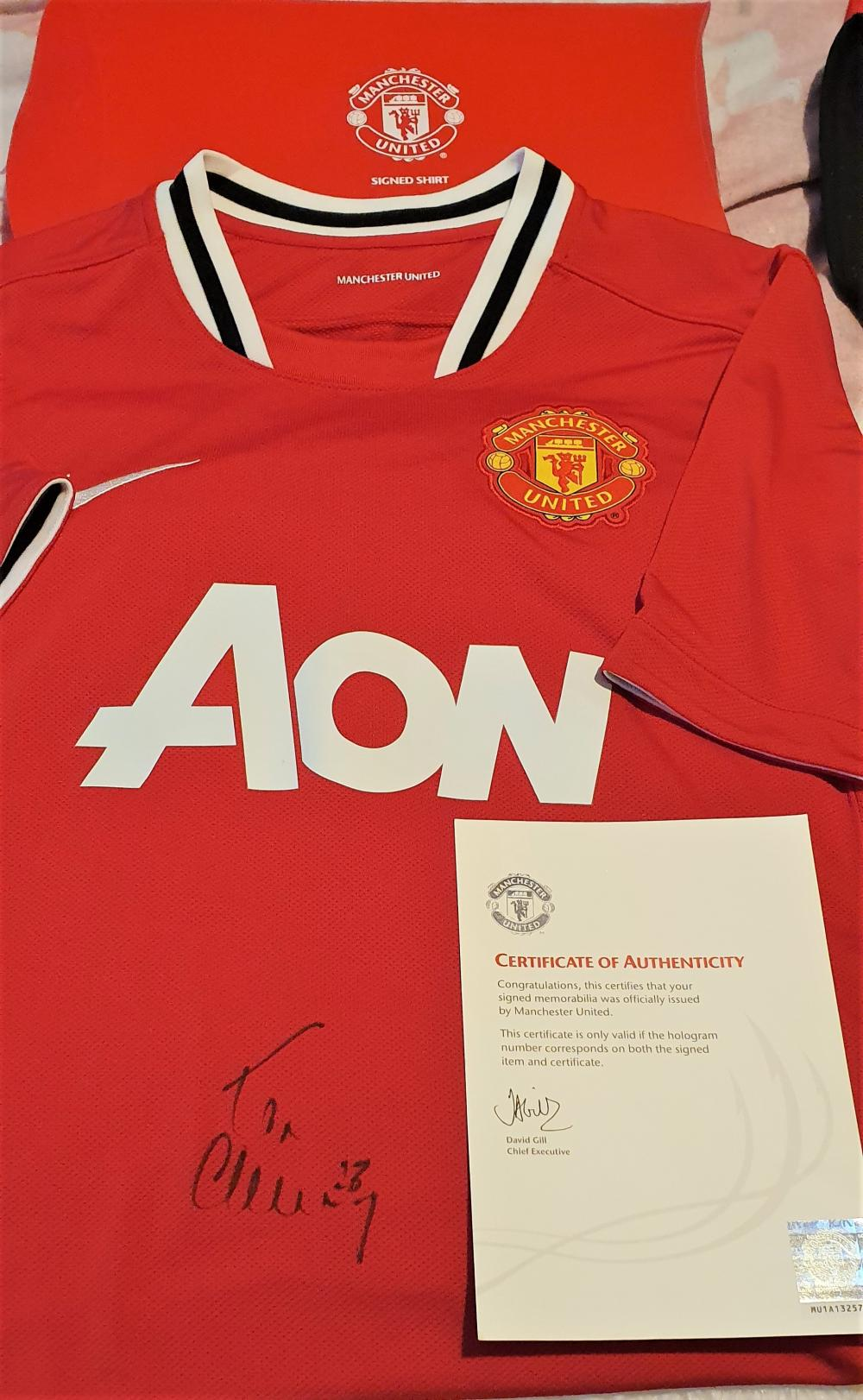 Lot 238: Tom Cleverly Signed Manchester United Football