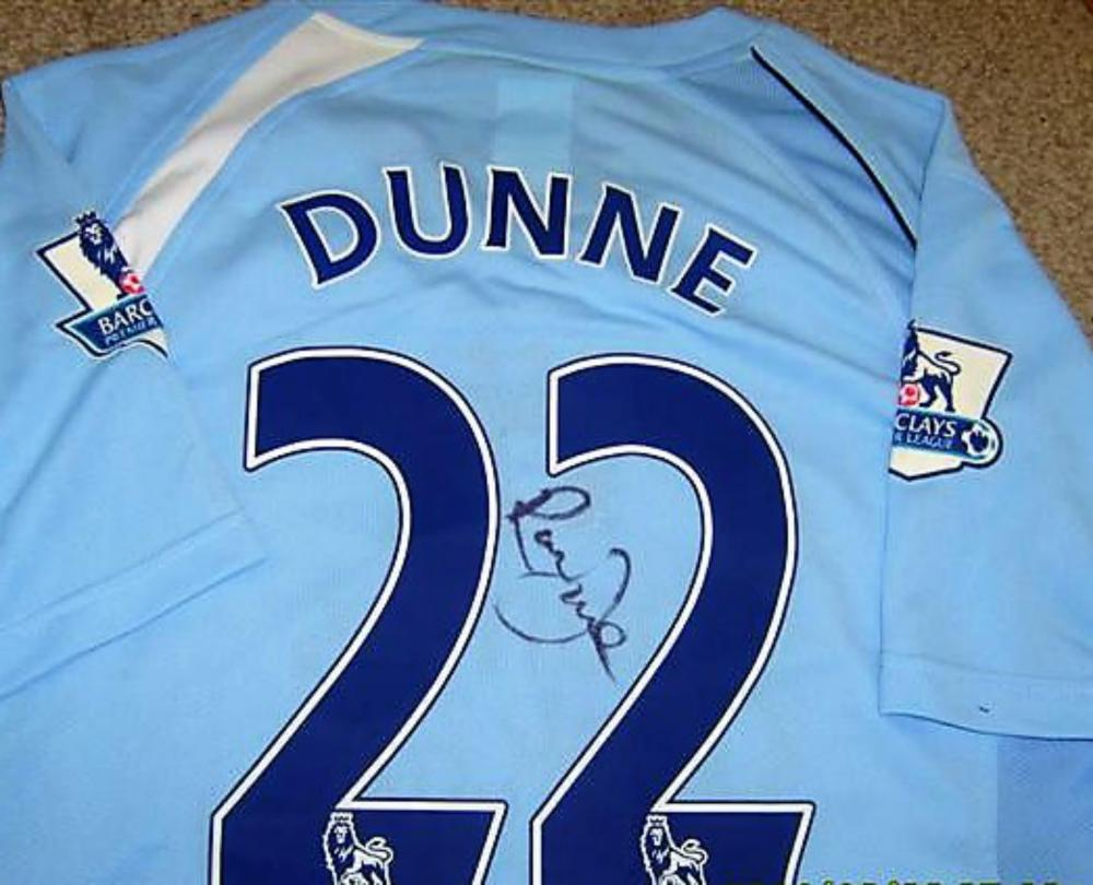 Lot 115: Manchester City Signed Richard Dunne Shirt