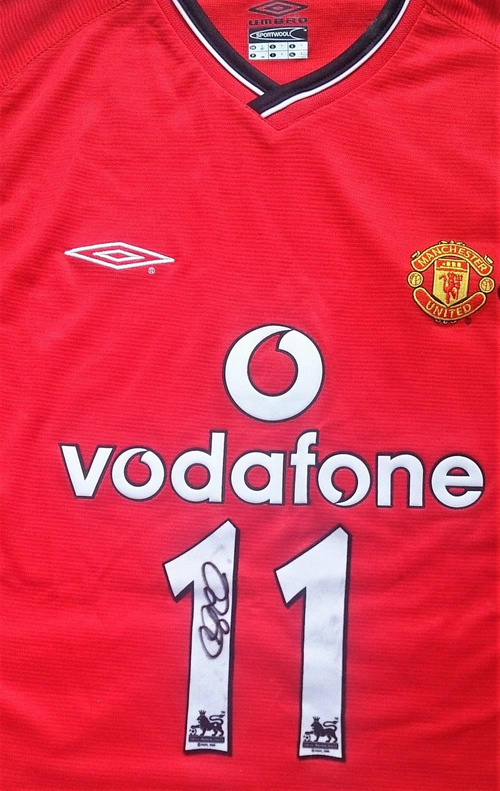Lot 51: Signed Manchester United Football Shirt - Ryan Joseph Giggs, OBE (Wilson; born 29 November 1973) is a Welsh football coach and former player who is the co-owner of Salford City. He played his entire professional career for