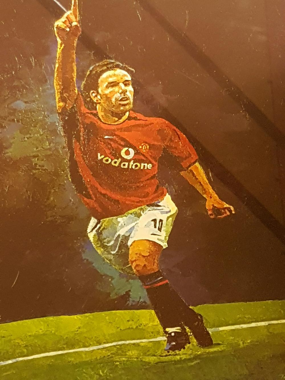 "Lot 153: Signed and Framed Ruud Van Nistelrooy print. Rutgerus Johannes Martinus """"Ruud"""" van Nistelrooy (Dutch: Ruud van Nistelrooij; About this sound listen);[2] born 1 July 1976) is a retired Dutch footballer and a current"