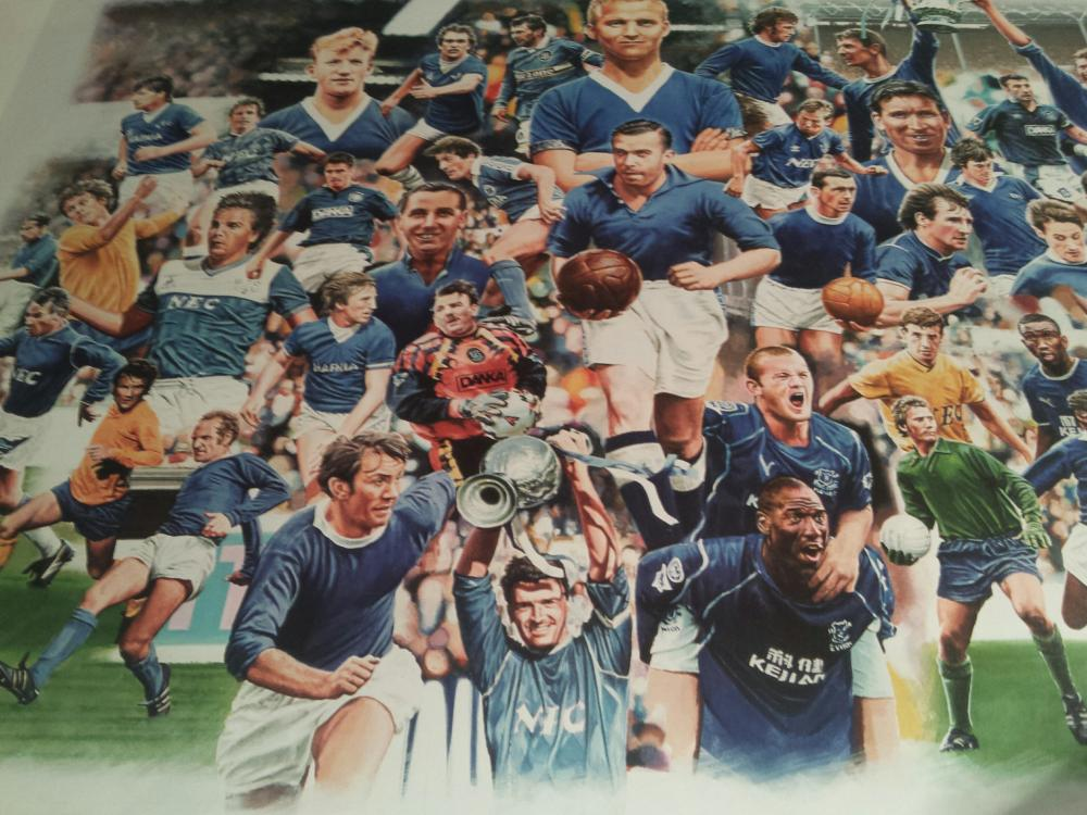 Lot 180: Signed Legends of Goodison Park Football Print