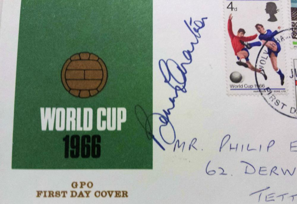 Lot 223: Signed Sir Bobby Charlton First Day Cover. Sir Robert Charlton CBE (born 11 October 1937) is an English former football player, regarded as one of the greatest midfielders of all time, and an essential member of the England team who won the