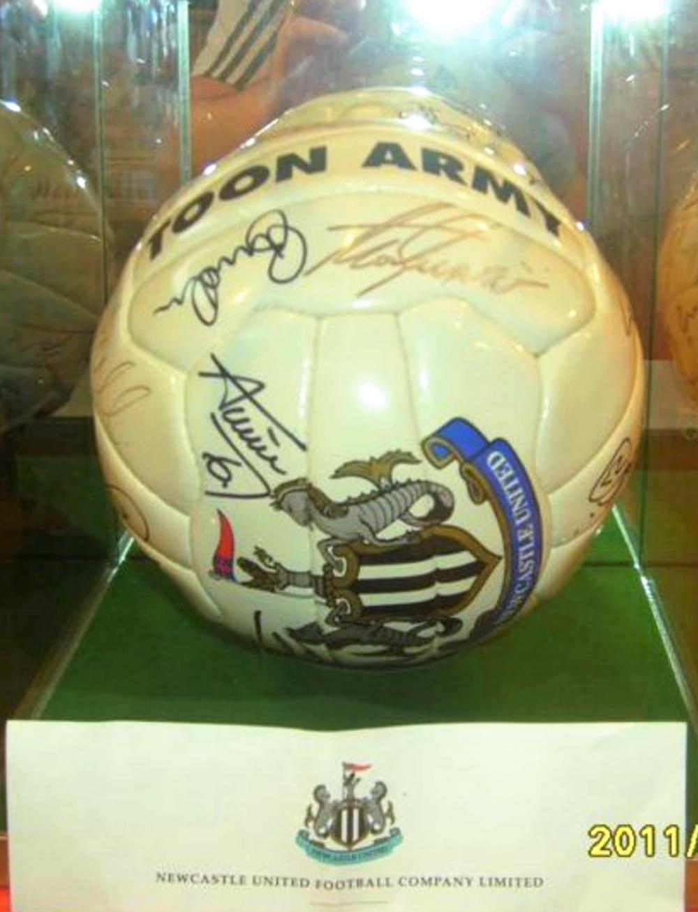 Lot 216: Signed Newcastle Football -  Direct frm the Club Plus Complement slip