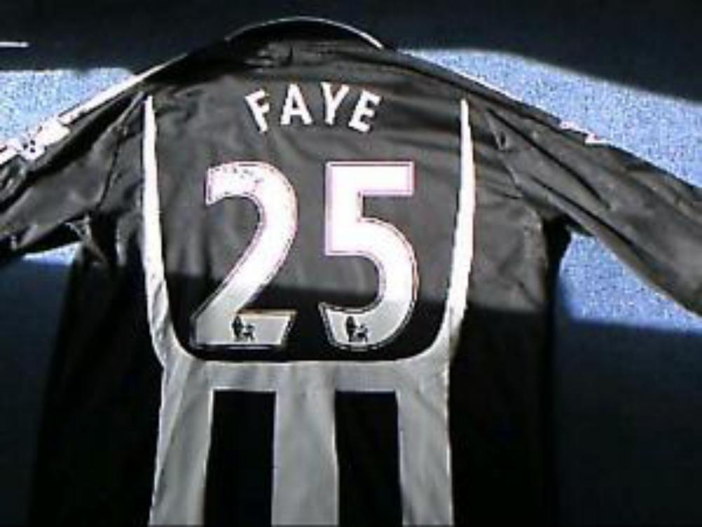 Lot 239: Signed Newcastle Football Shirt by FAYE I would say that it is a player issue shirt.