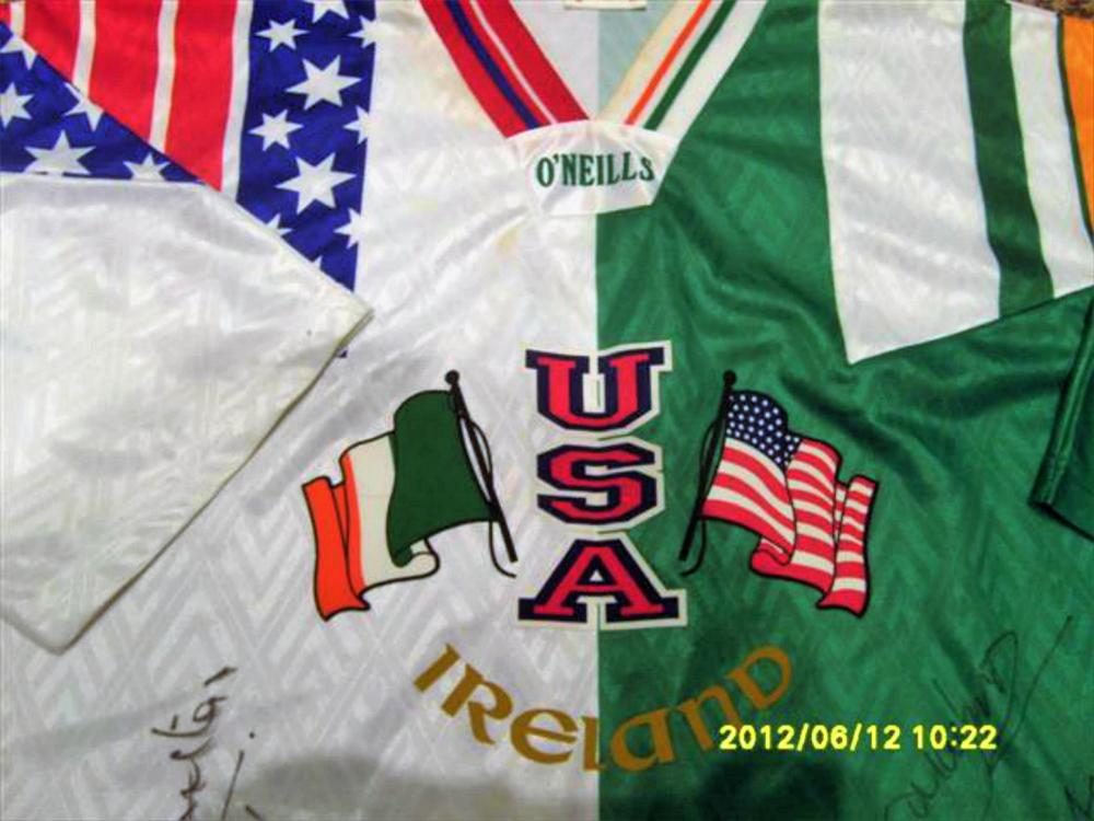 Lot 291: Signed Ireland Football Shirt from World Cup in America 1994